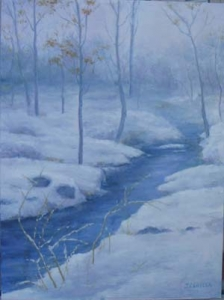"""Winter Brook"" (16x12)"