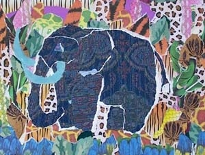 """Blue Tusk Elephant"""