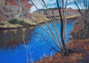 """Autumn Stream in Wellesley"""
