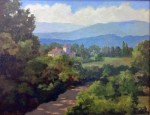 "WSA First Prize: Florence Como, Acrylic ""In the hills of Umbria"""