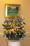 "Dorothy Hausemann's floral interpretation of WSA artist Mary Forte Hayes's oil on canvas ""Monet's Garden"""