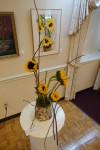 "Joan Clipstone's Floral Interpretation of WSA member Rand Khuri's Watercolor ""Sunflowers III"""