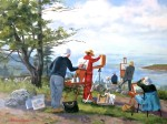 "WSA Honorable Mention, Florence Como for ""Painters on Monhegan Island""; Acrylic"