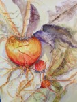 "WSA Third Place, Nancy Present VanBroekhoven for ""Fresh from the Garden""; Watercolor"