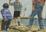 "WSA Honorable Mention, Mick Watson for ""Boston Light"" ;Watercolor"