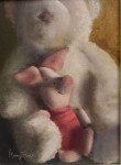 "WSA Honorable Mention, Nancy Treves for ""Bear, I was Thinking...""; oil"