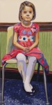 "WSA Honorable mention, Leslie Graff for ""Jane Sits"", acrylic"