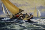 "Helen Sherman Memorial Award for Best Traditional Realistic painting byFrederick Kubitz for ""Yachting Scene"", oil"