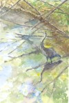 "WSA Honorable Mention by Elizabeth Gorman for ""Heron at Water's Edge, Watercolor"