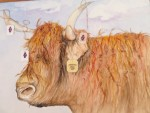 "WSA Honorable Mention by Nancy Present vanBroekhoven for ""Minnie Pearl"", Watercolor"