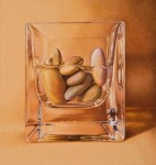 "WSA Honorable mention by Deborah Friedman for ""Small Stones in Water"", Colored pencil"
