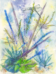 "WSA Second Prize: Nancy Present-Van Broekhoven for ""It's all about Spring"", Watercolor"