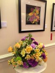"Artist: Naomi Wilsey ""Celebration"" Watercolor; Floral by Roz Augustin"